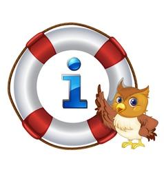 Owl Information Kiosk Sign vector