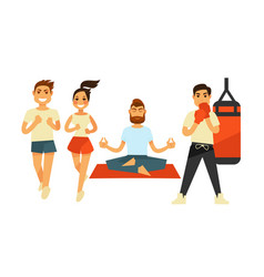 people fitness and sport exercise or training vector image