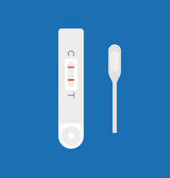 Pregnancy test flat design vector