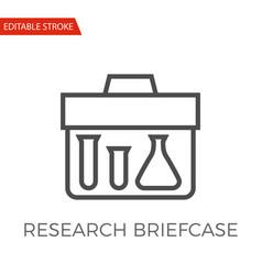 research briefcase icon vector image