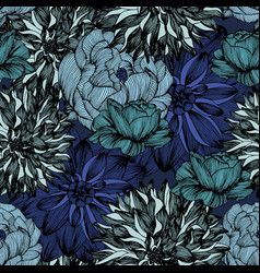 seamless pattern with complex detailed colors vector image