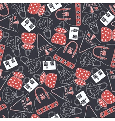 Seamless pattern with skirts vector