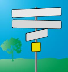 Sign post vector