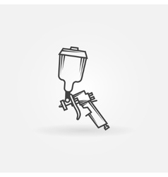 Spray gun logo vector image