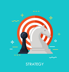 strategy flat conncept vector image