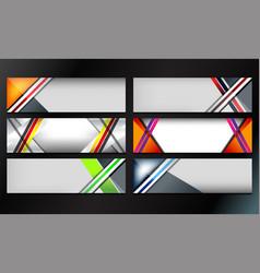 stripes banner design vector image