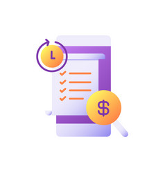 Transaction history flat color icon vector