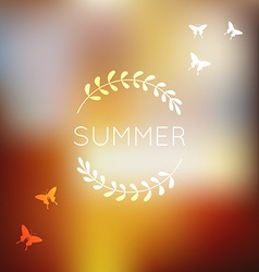 Unfocused summer background vector