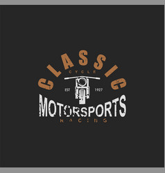 Vintage motorcycle sport silhouette and design vector