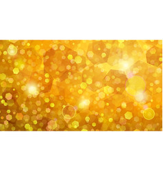 yellow abstract background of small hexagons vector image