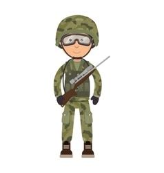 Military soldier cartoon vector