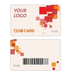 Plastic Gift Cards vector image