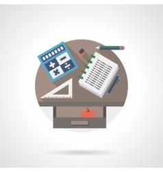 School supplies detail flat color icon vector image