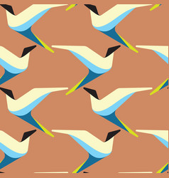 abstract and contemporary birds seamless surface vector image