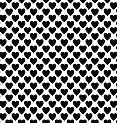 Abstract black white heart pattern design vector image vector image