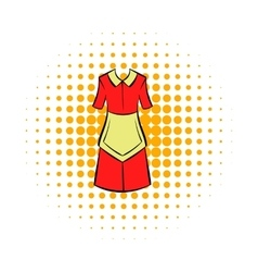 Housewife dress icon comics style vector image vector image