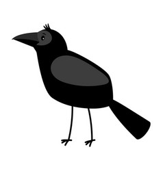 raven cartoon bird icon vector image