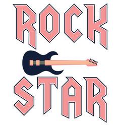 rock star fashion slogan in rock style vector image