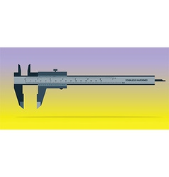 Vernier caliper tool isolated on color background vector