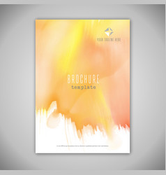 business brochure design with watercolour texture vector image vector image