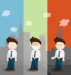 emotion salary man cartoon lifestyle vector image vector image