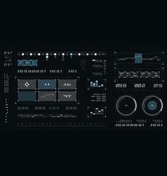 futuristic user interface spaceship screen vector image