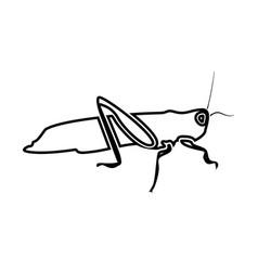 grasshoper black color icon vector image vector image