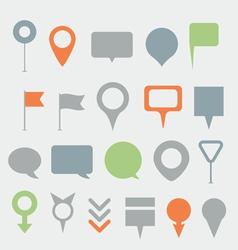 Navigation pins collection vector
