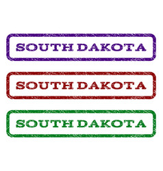 south dakota watermark stamp vector image vector image