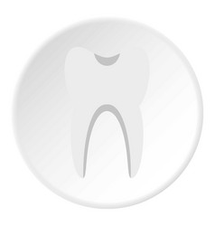 tooth icon circle vector image