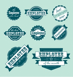 Employee of the Month Label Set vector image vector image
