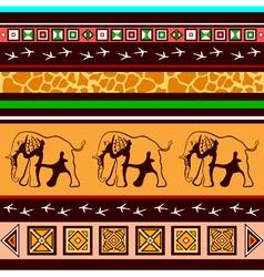 Ethnic pattern with elephants vector image