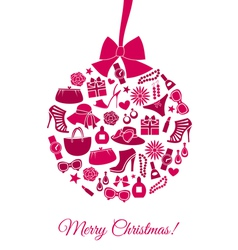 Fashion Christmas Ball vector image
