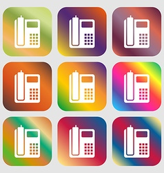 home phone icon vector image
