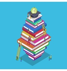 Isometric education graduation back school 3d vector image vector image