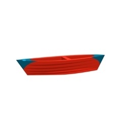 Simple Peddle Toy Boat vector image vector image