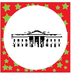white house in washington dc united states black vector image