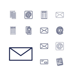 13 newsletter icons vector