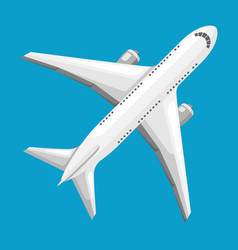 abstract airplane on blue vector image