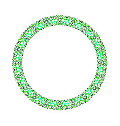 Abstract geometrical mosaic circle - round element vector