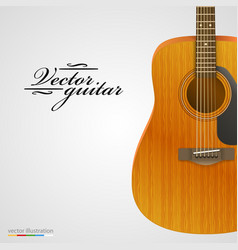 Acoustic guitar bright background vector