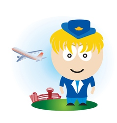 airline girl vector image