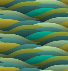 Background of abstract curled green waves vector image