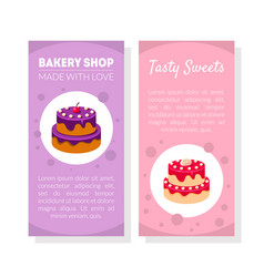 bakery shop card template with place for text vector image