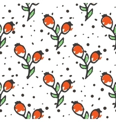 Berry tea seamless pattern Briar organic herbal vector