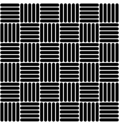 Black and white simple woven geo seamless pattern vector