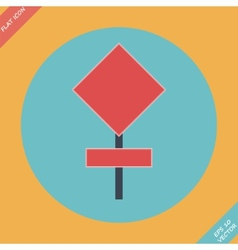 Blank red road sign - vector image vector image