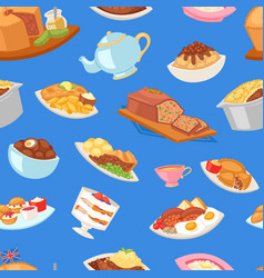 british food english breakfast meal and vector image