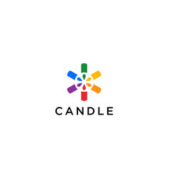 candle and community logo design concept vector image
