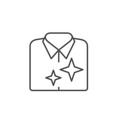Clean clothes line outline icon vector